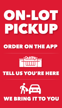 On-lot Pickup. Let us do the legwork. You order on the app, we bring it out to you!